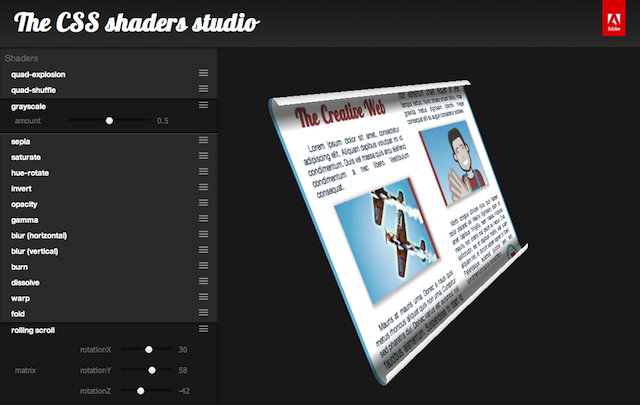 Studio Shaders Css Shaders Studio